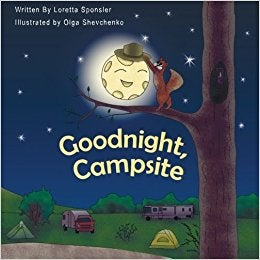 You might recognize this camping book as an adaptation of the classic Goodnight Moon.