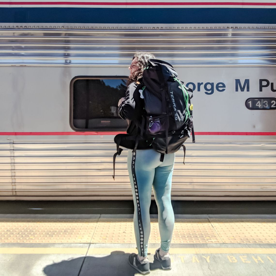 camping without a car in Chemult, Oregon Amtrak Station