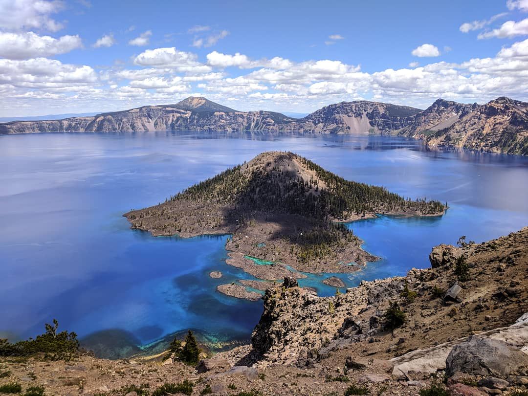 camping without a car in Crater Lake, Oregon