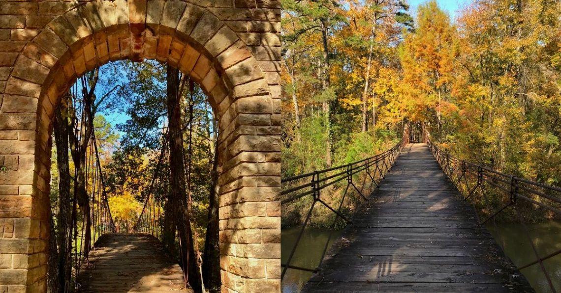 Suspension bridge over Bear Creek in Tishomingo State Park