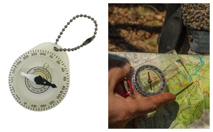 Brunton compass that glows in the dark