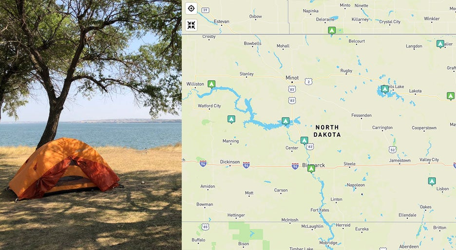 The Ultimate Guide to All 13 North Dakota State Parks on map of north georgia campgrounds, map of north dakota casinos, map of north dakota airports,