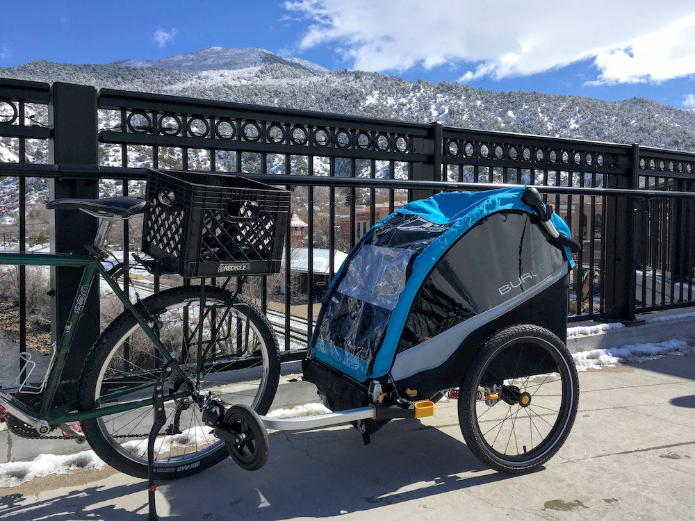 a burley kid trailer for bike touring