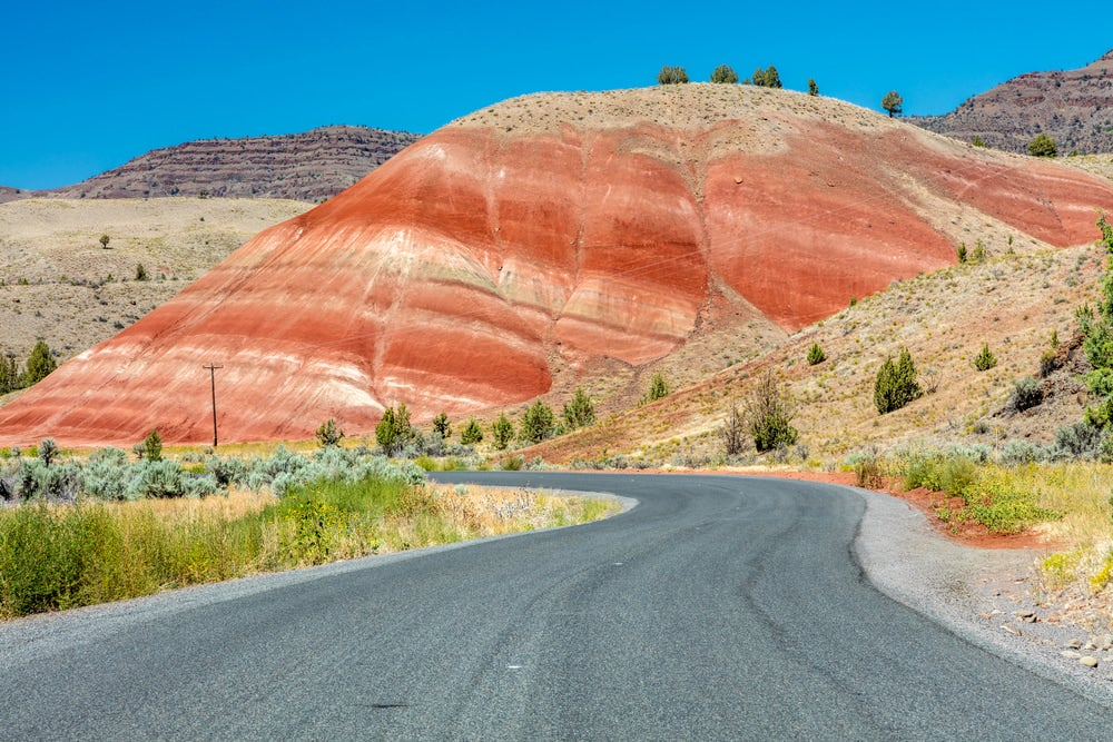 Road leading to painted hills