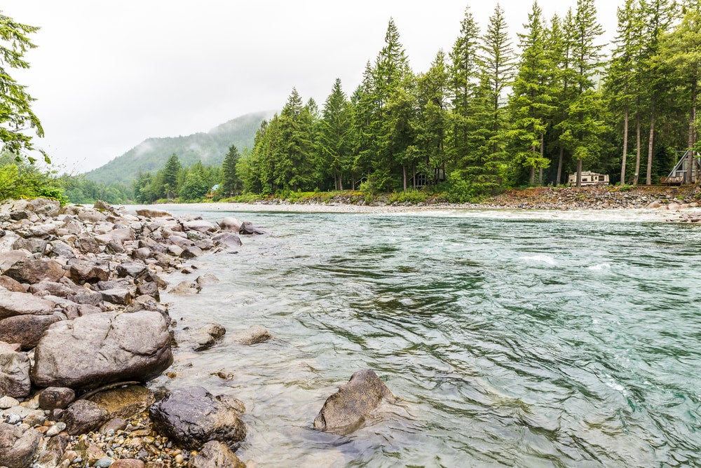 View from the edge of the Skykomish River.