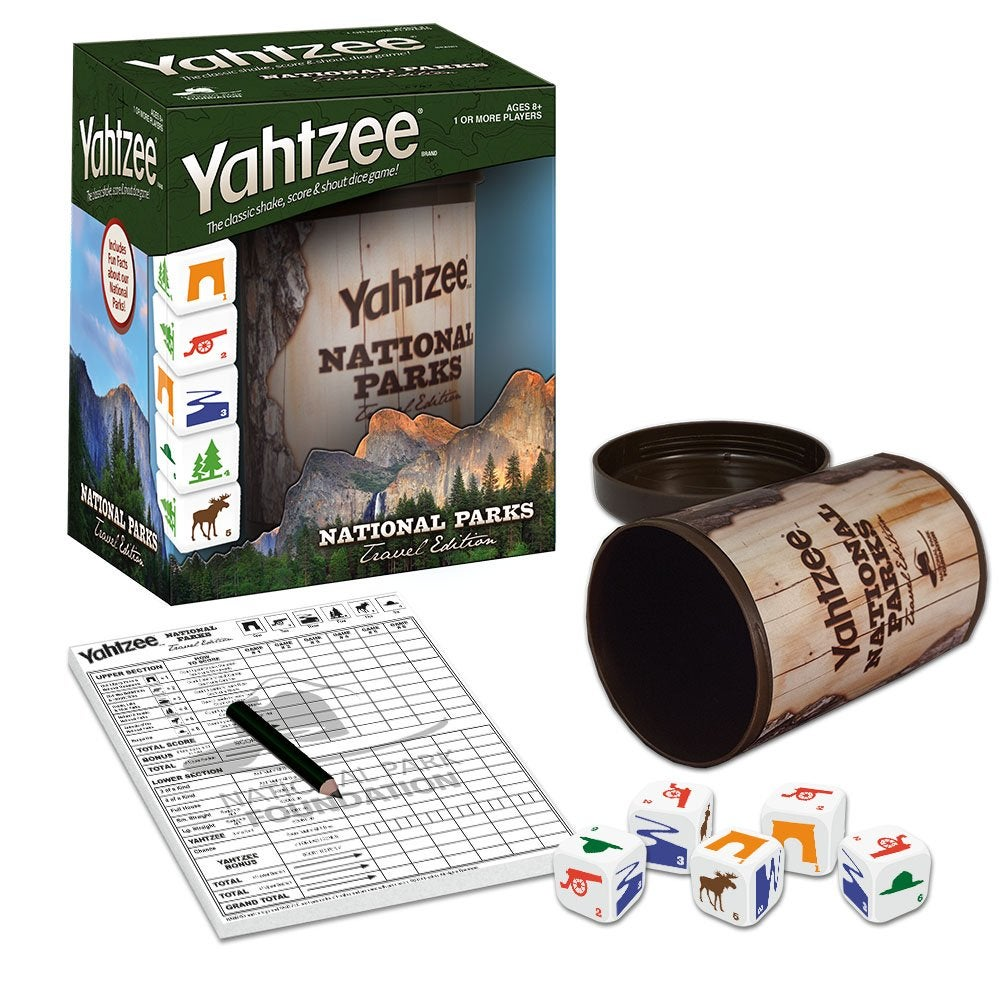 an image of national parks edition yahtzee