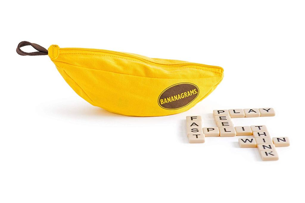 a product image for bananagrams on a table
