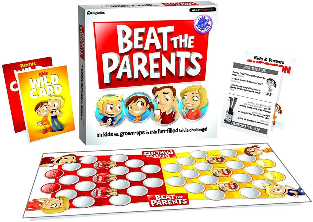 the board game beat the parents laid out on a table