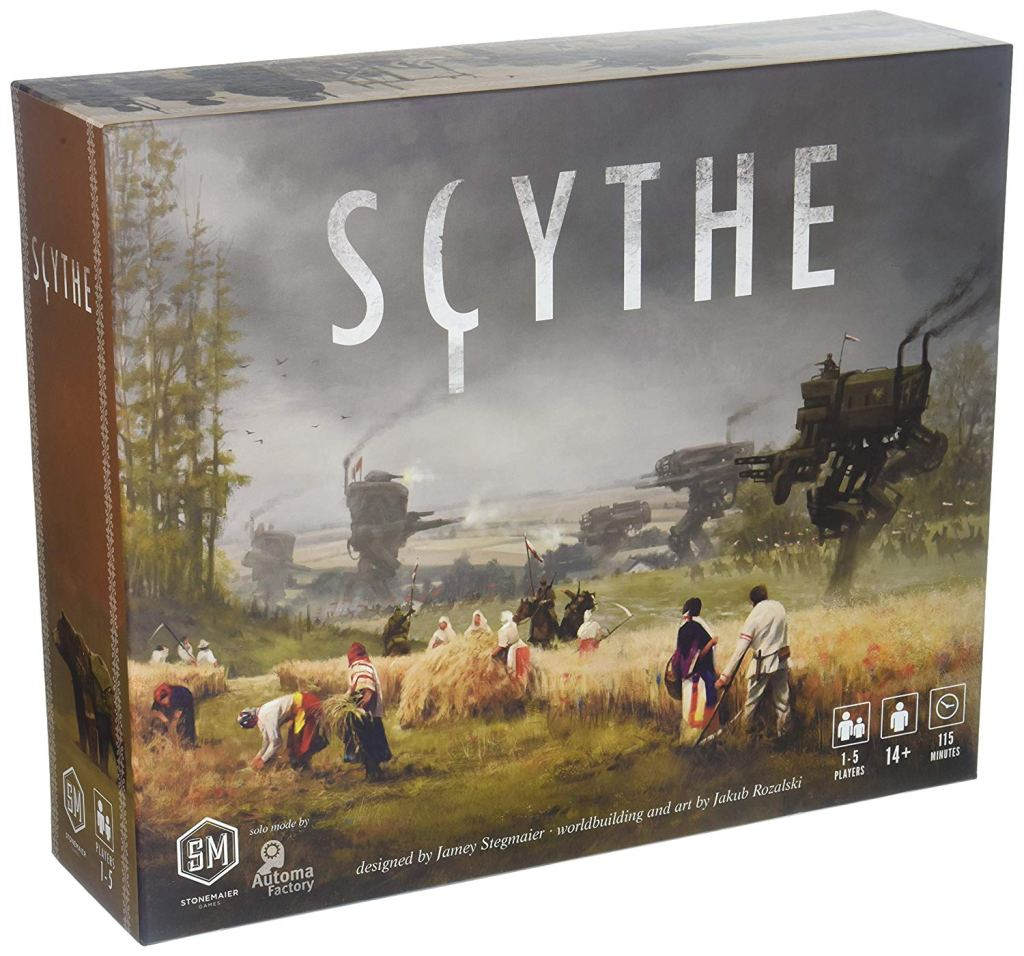 the box art for the board game scythe