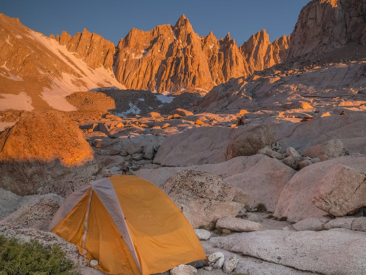 trail camp on mount whitney