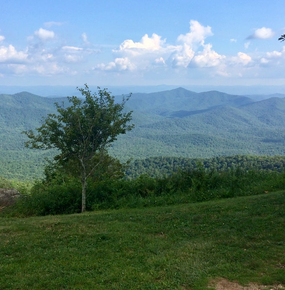 Landscape of the Blue Ridge Mountains.