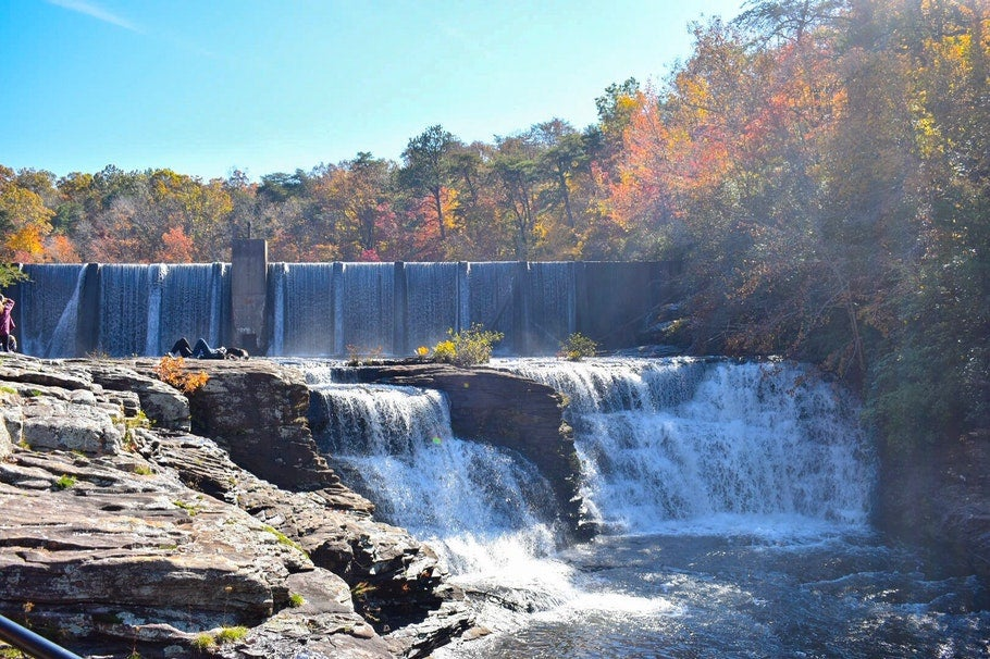 Dam at DeSoto State Park in Alabama, photo from a camper on The Dyrt