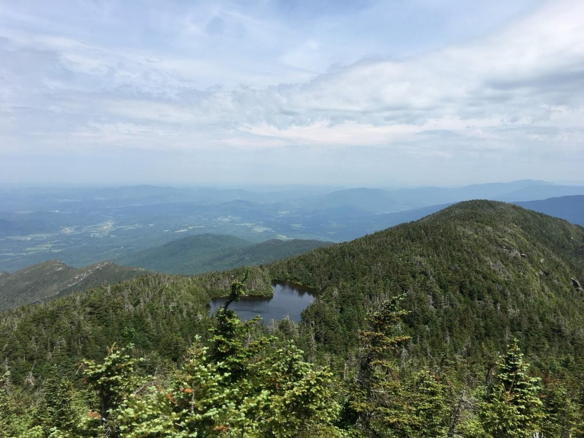 View of the Green Mountains from Mt. Mansfield.