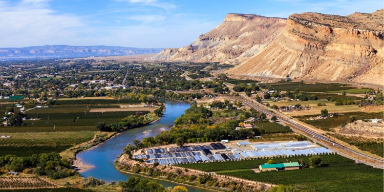 image of grand junction colorado overhead