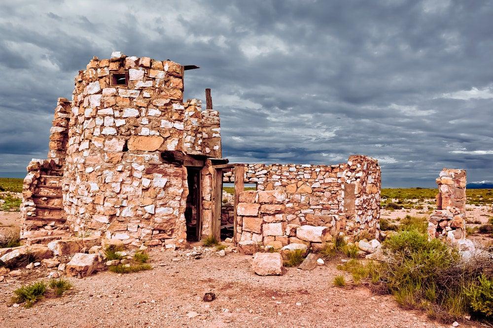 Abandoned stone building in Arizona