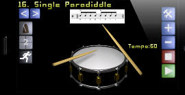 RudiDrum, application de rudiment pour iPhone