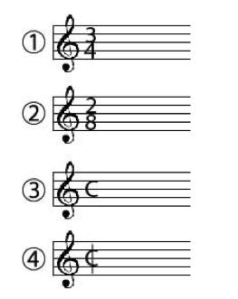 Signatures rythmiques simples