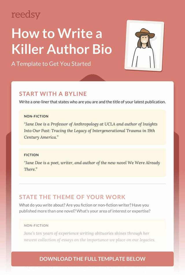 How to Write a Memorable Author Bio (with Template)