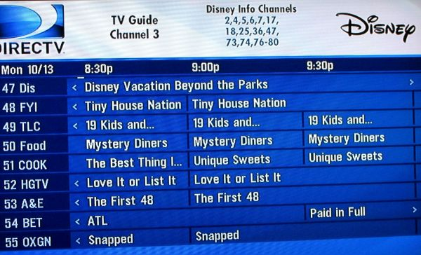 What39s On TV Your Disney World TV Channel Line Up