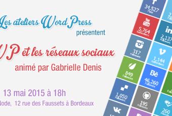 Atelier WordPress StudioXine avec Gabrielle Denis