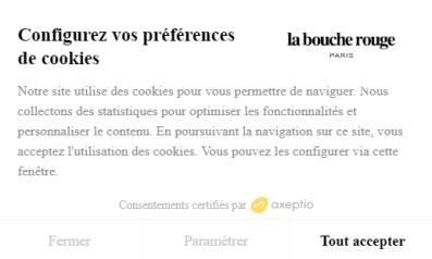 Exemple de bandeau cookies RGPD