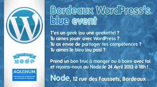 Bordeaux WordPress's blue event
