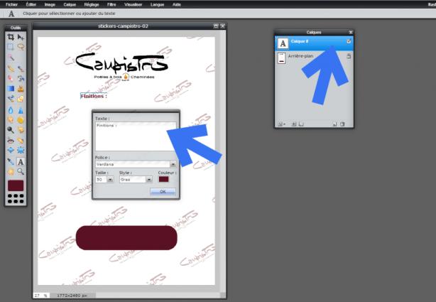 Pixlr Editor - Palette des calques