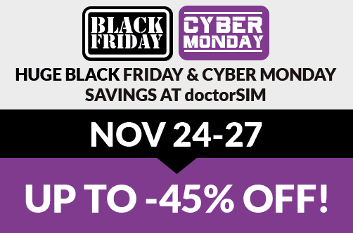 Check out doctorSIM's amazing deals on Black Friday and Cyber Monday