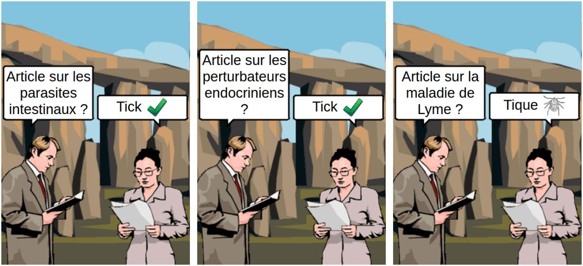 Lyme tick tique - comic