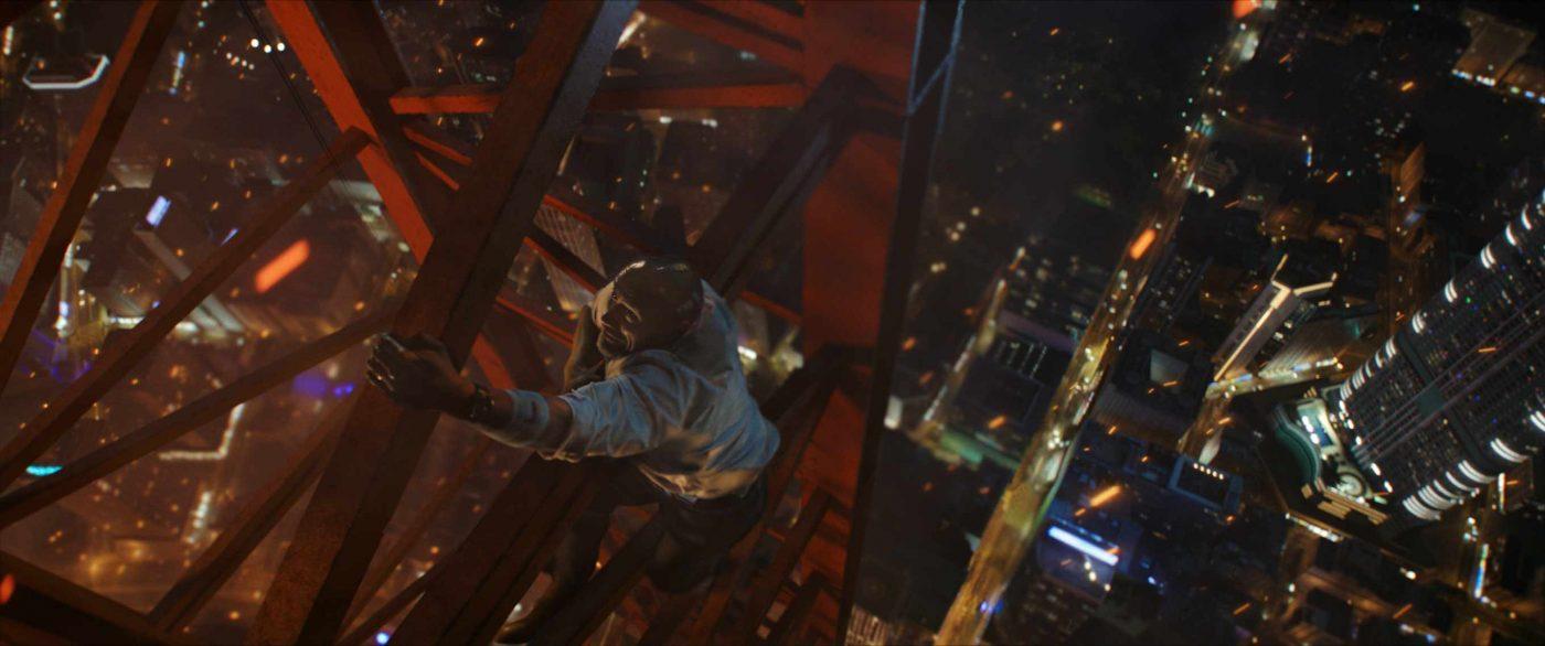 Skyscraper Filmkritik Review Fluxkomepnsator