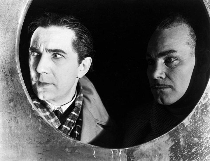 Die schwarze Katze Bela Lugosi und Harry Cording
