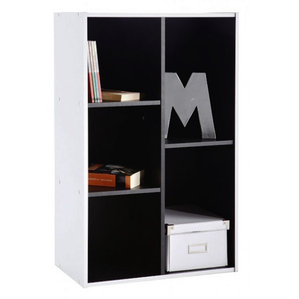 meuble rangement bibliotheque 5 cases demeyere