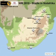 WM 2010 Austragungsstätten