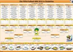 Der offizielle WM 2010 Spielplan