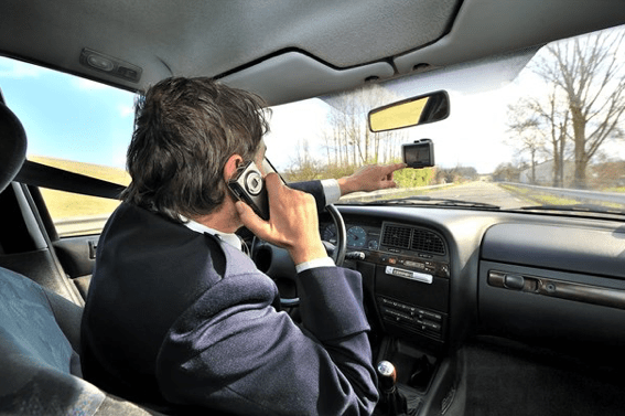 Talking on a cell phone while driving