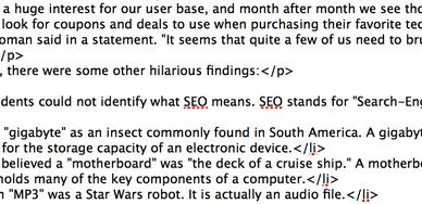 L'HTML est heureusement pas du tout une MST