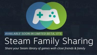 Partage familliale de la bibliothèque de jeux pour Steam Steam Family Sharing