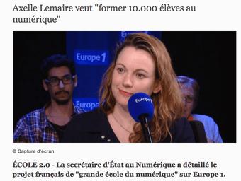 Axelle Lemaire veut voir le code apparaître dans les programmes scolaires