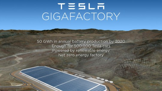 Gigafactory - l'usine Tesla dans le Nevada