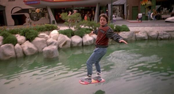 Le skateboard volant de Marty McFly