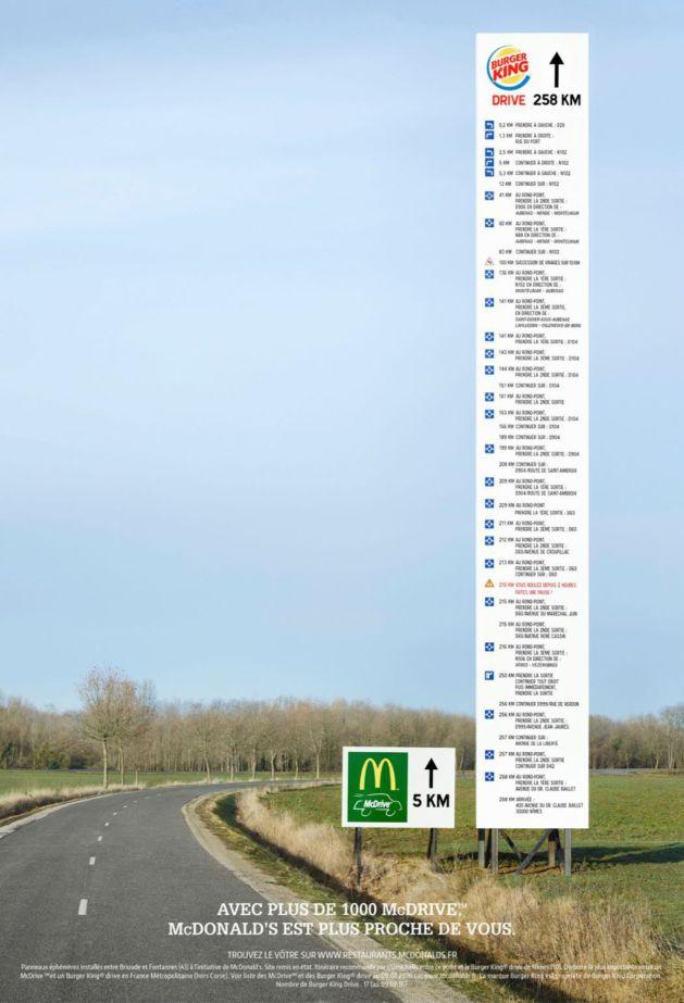 Panneau McDonald 10m