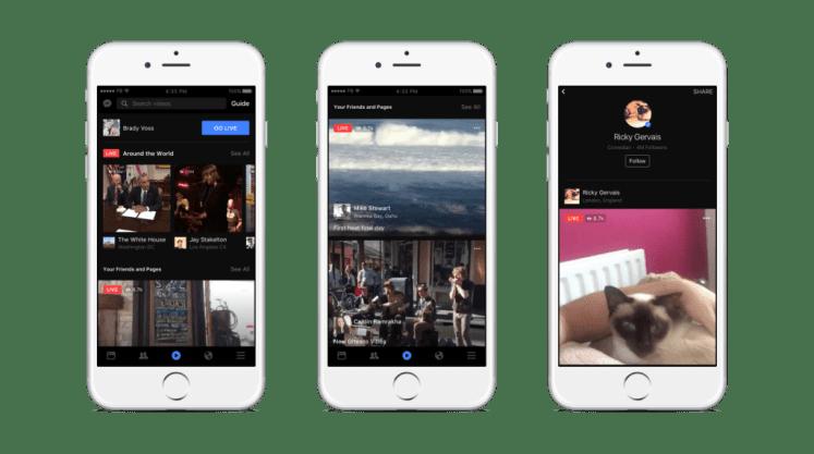 Avec Facebook Live, accédez à des flux triés par sujets, contenus populaires et live de vos amis, et diffusez vous-même en direct.