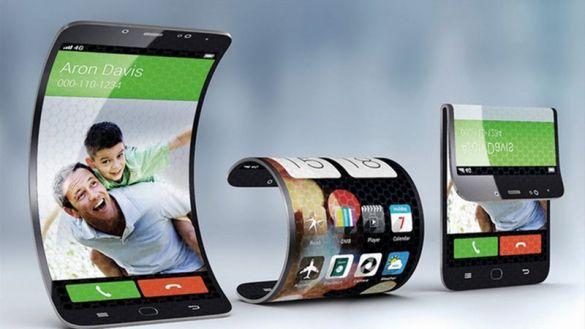concept de smartphone à écran flexible