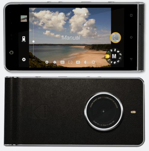 Vue de face avant et arrière du smartphone Ektra, l'image a été divulguée par le Blog High Tech.fr