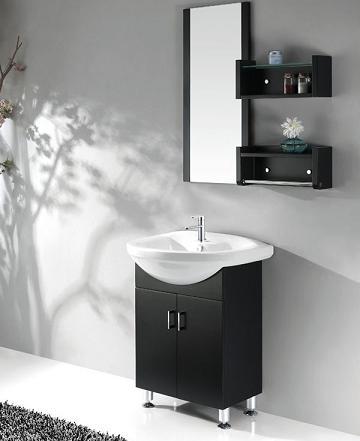 black and white bathroom vanities: a high contrast modern bathroom
