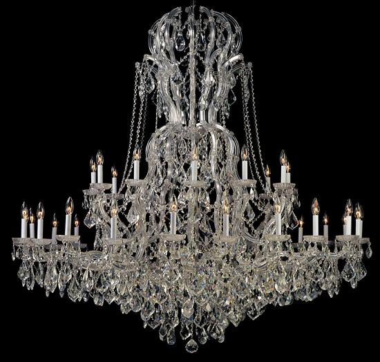 Maria Theresa Glass Chandelier With Sawovski Strass Crystal From Crystorama