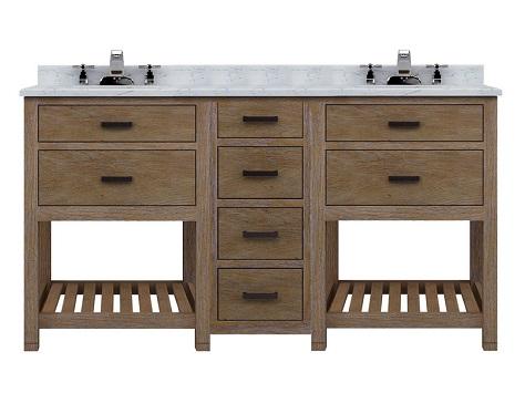 Modular Textured Wood Bathroom Vanity Sets From Sagehill