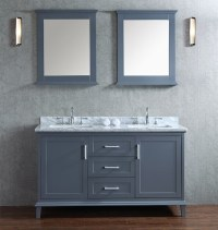 Gray Shaker Style Bathroom Vanities: A Hot Bathroom Trend