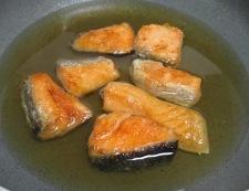 甘塩鮭のおろし煮 調理④