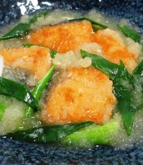 甘塩鮭のおろし煮 拡大